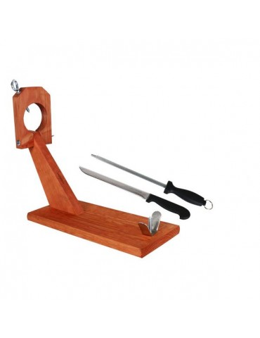 Wooden Ham Stand with Knife...