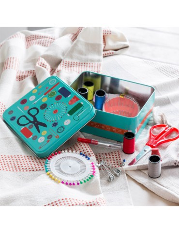 Metal Sewing Box with...