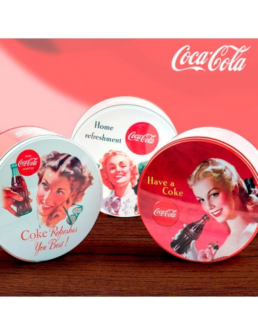 Coca-Cola Retro Round Metal...