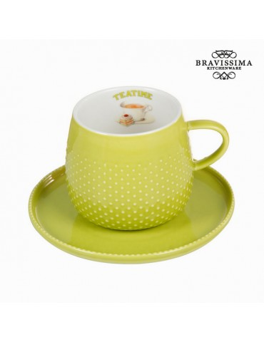 Cup with green plate -...