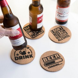 Party Cork Coasters (Pack...