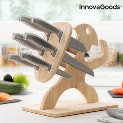 Set of Knives with Wooden...
