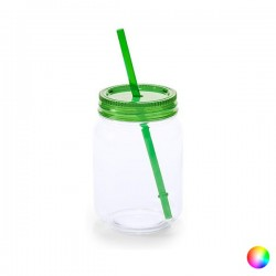 Jar with Lid and Straw (600...