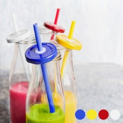 Bottle with Lid and Straw...
