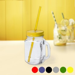 Jar with Lid and Straw (500...